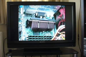PIII CPU photo on SONY TV