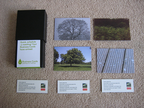 Moo Business Cards just arrived | OSDE