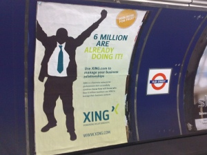 "xing ""northern line"" poster campaign"