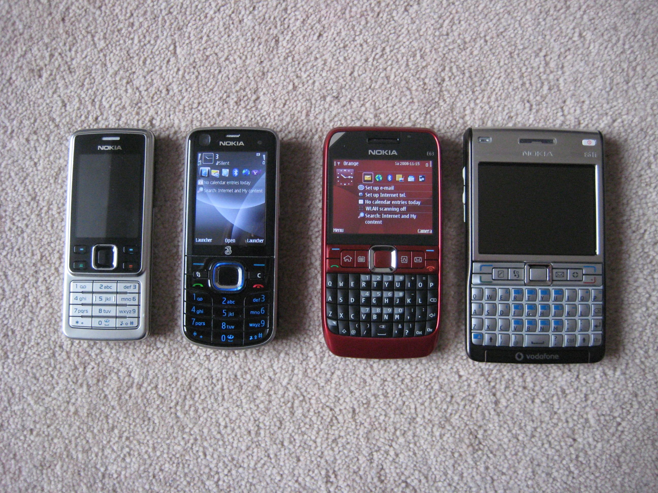 Nokia E63 - SAR Levels