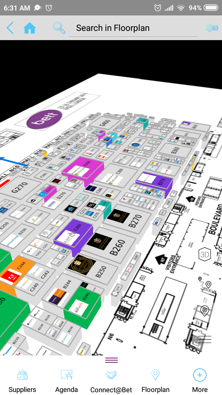 The Bett Show Bett Bett2019 Education Technology Show Mobile App Has A Great 3d Floor Plan Osde Info