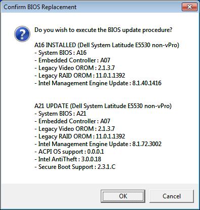 DELL Latitude E5530 BIOS Upgrade | OSDE INFO